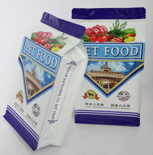 AFPFB1.5KG plastic pet food bag  8 faces  hold 1.5kg
